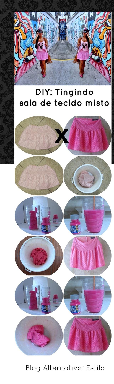 saia tingida de rosa