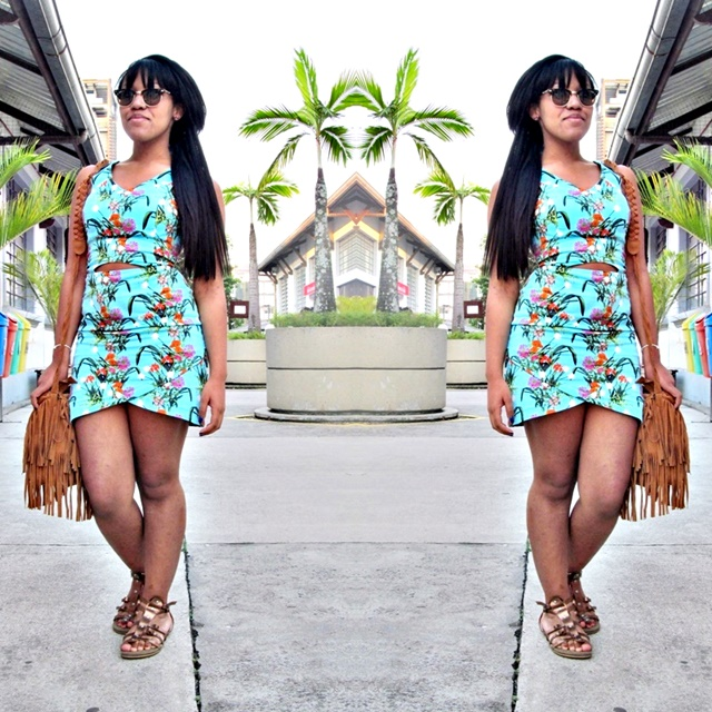 Ágata de Souza _ look com vestido floral 2