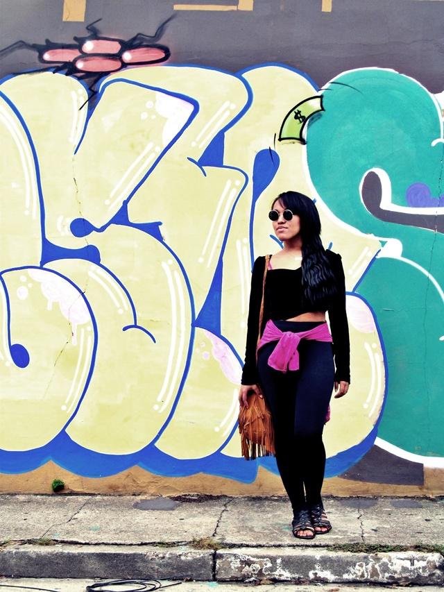 Ágata de Souza - Look com calça legging preta  1