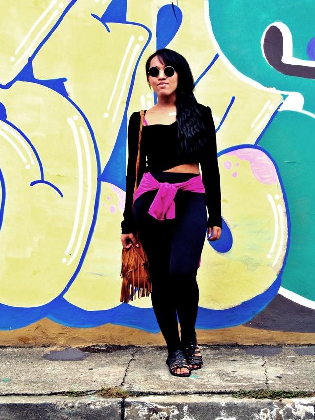 Ágata de Souza - Look com calça legging preta