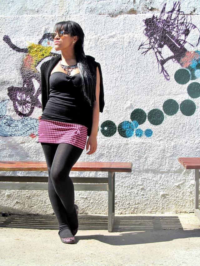 Ágata de Souza - Look com meia calça preta  1