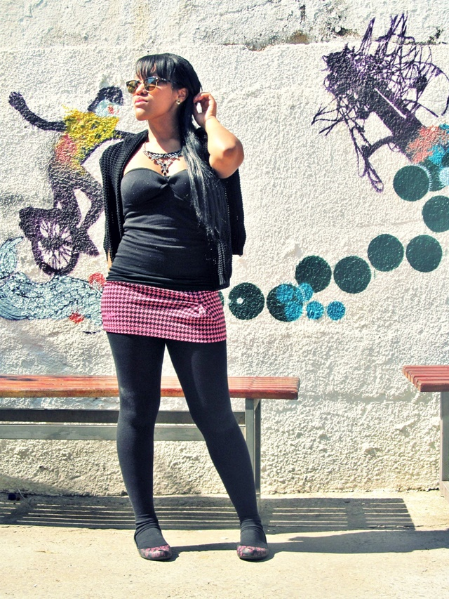 Ágata de Souza - Look com meia calça preta 2