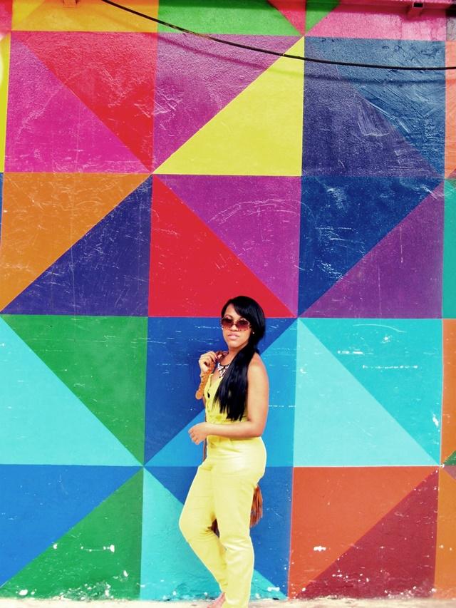 Look com macacão amarelo - Ágata de Souza 1