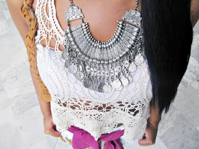 Ágata de Souza - Look com cropped de croche 3