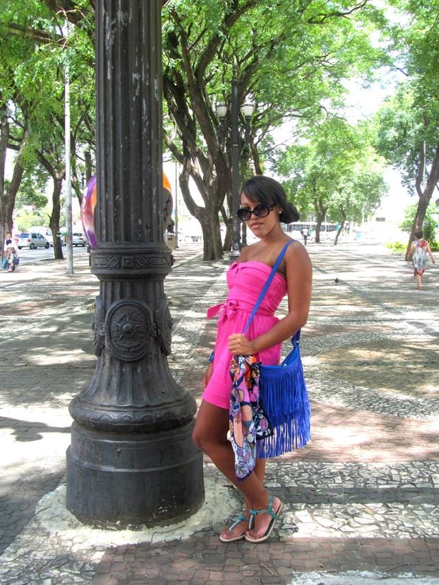 Ágata de Souza - Vestido rosa pink tubinho 6