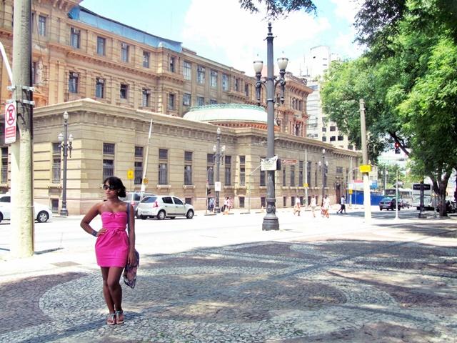 Ágata de Souza - Vestido rosa pink tubinho 7