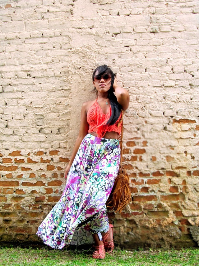 Ágata de Souza - Look com cropped de croche 4