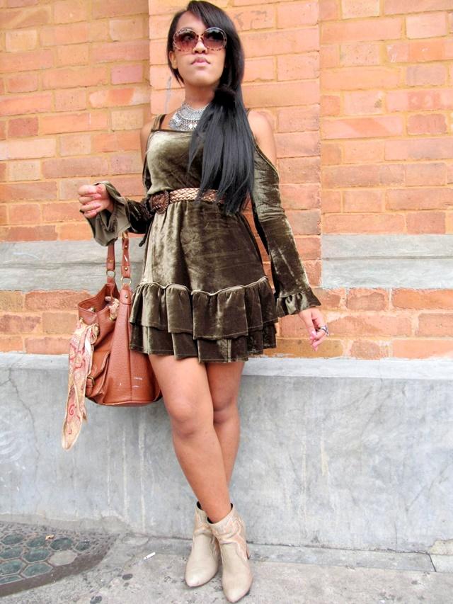 Ágata de Souza - Look de outono com vestido 4