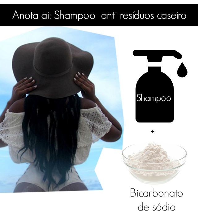 Shampoo anti resíduos caseiro como fazer - Receita shampoo anti residuos